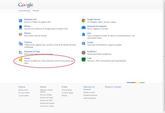 Alertas de Google #googlealertizarte