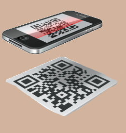 Iphone leyendo contenido código QR