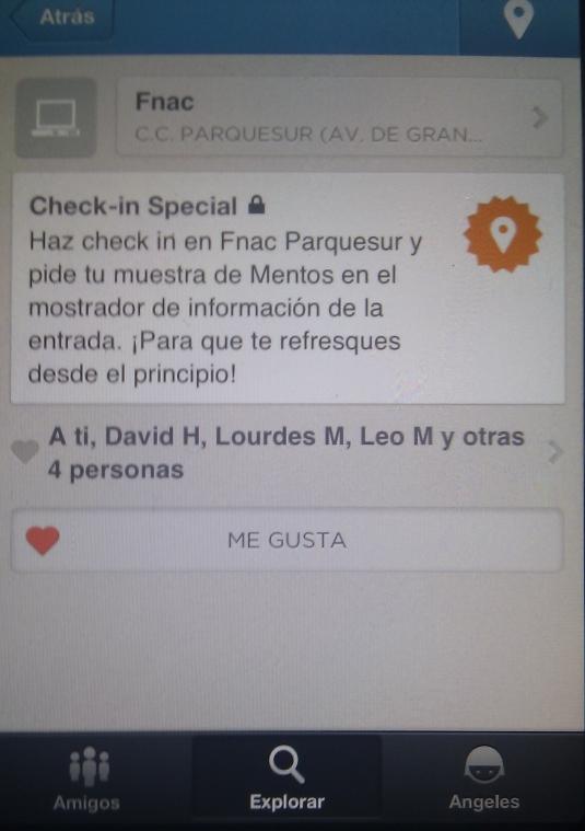 Ofertas en Foursquare