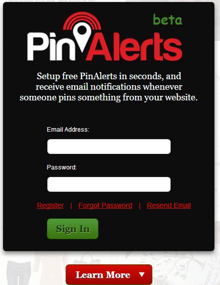 Pinalerts para monitorizar Pinterest