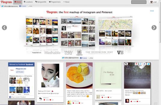 Aplicación Pinterest e Instagram