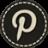 Botón Pinterest blanco y negro