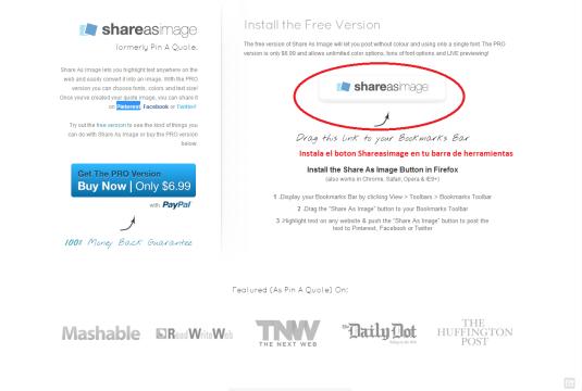 Shareasimage herramienta contenidos Pinterest