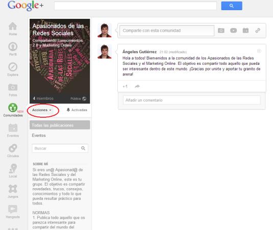Comunidad Apasionad@s Google+