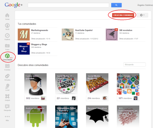 Comunidades Google+