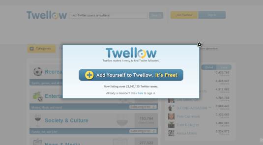 Aplicación Twitter para buscar personas de interés