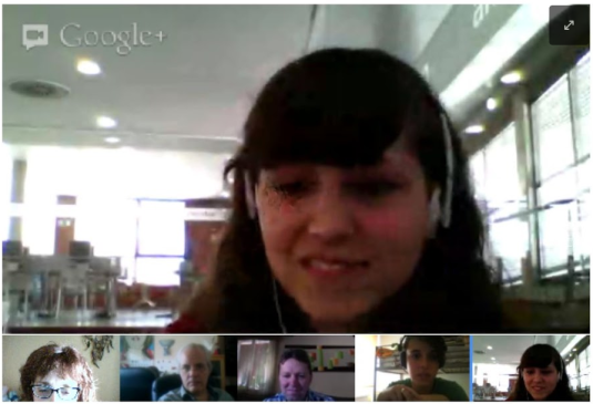 Captura Google Hangout