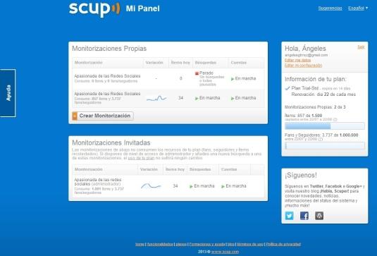 Scup herramienta monitorización