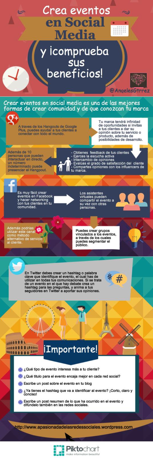 Crear eventos en Redes Sociales