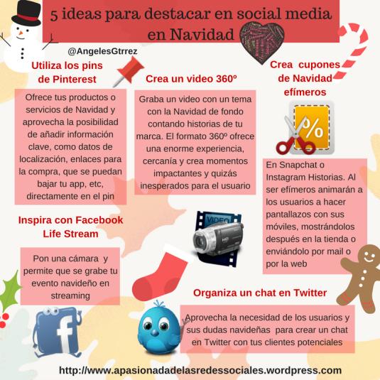 ideas social media para diferenciarte en Navidad