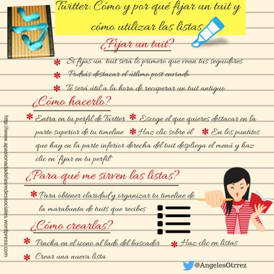 Cómo fijar un tuit y cómo utilizar las listas de Twitter